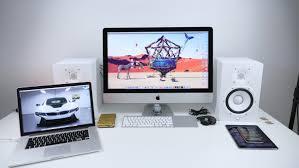 Imac Desk by Mid 2015 Desk Setup Youtube