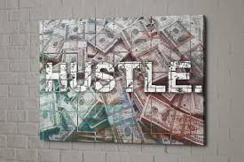 hustle canvas wolf of wall street canvas money print zoom