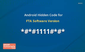 android software versions android secret phone code for fta software version