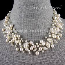 wedding necklace pearls images Pearl necklace bridesmaid wedding jewelry multistrand necklace jpg