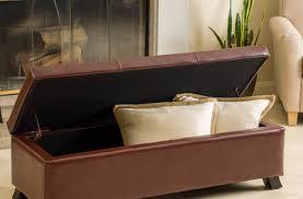 Leather Ottoman Tray by Bench Versatile Storage Ottoman With Tray Amazing Storage