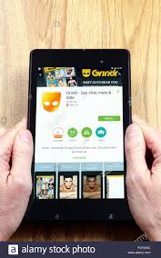 grindr for android social networking grindr app on an android tablet pc dorset