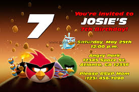 angry birds birthday invitations classic and space general prints