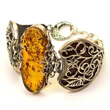 amber bracelet images Polish art center quot sheer elegance quot amber and silver cuff bracelet i jpg