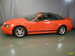 orange mustang convertible 2004 competition orange ford mustang v6 convertible 42752820