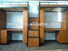 Double Loft Beds Wooden Double Bunk Bed With Desk Home Furniture - Double loft bunk beds