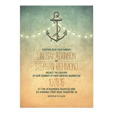 wedding wishes nautical rustic lights nautical anchor wedding 5x7 paper invitation card