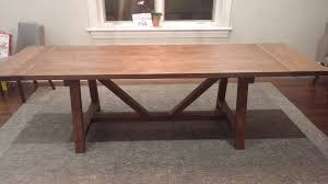 hand made solid oak farmhouse trestle dining table by the urban