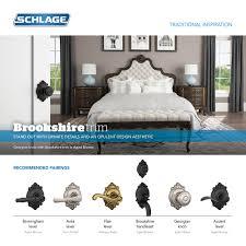 schlage f600brk716acclh aged bronze brookshire complete house door