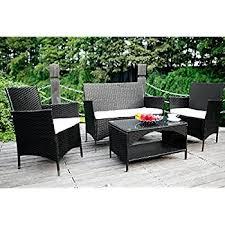 Amazoncom Merax Piece Outdoor PE Rattan Wicker Sofa And Chairs - Rattan furniture set
