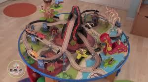 thomas train set wooden table kidkraft dinosaur train table wooden train set youtube
