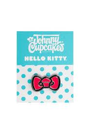 hello bow hello bow enamel pin johnny cupcakes