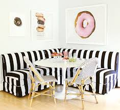 Black And White Striped Dining Chair White And Black Striped Dining Banquette With Marble Saarinen