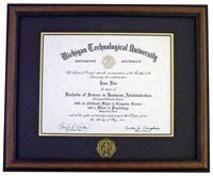 tech diploma frame diploma frames alumni and friends michigan tech