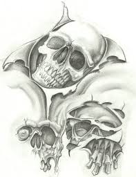 black and grey skull flash skull flash sketch