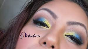 yellow blue makeup tutorial youtube