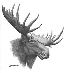 moose totem painting and description