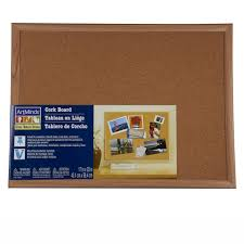 kitchen bulletin board ideas wood framed cork board by artminds