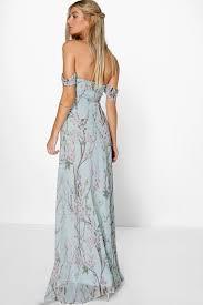 maxi dresses floral the shoulder maxi dress boohoo
