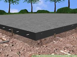 how to build a concrete base in preparation for a garage