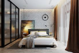 Navy Accent Wall Bedroom Bedrooms With Exposed Brick Walls
