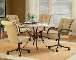 dinette table and chairs with casters dining room chairs with wheels dining room decor ideas and