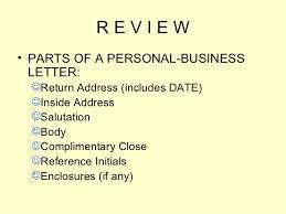 Business Letter Return Address letters power point presentation