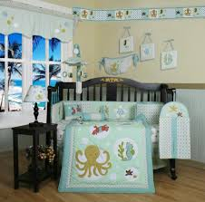 Boy Nursery Bedding Set by Geenny Sea World Animals 13pcs Crib Bedding Set