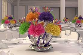 centerpieces for quinceaneras gloria s multicolored centerpieces quinceanera centerpiece