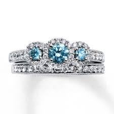 blue diamond wedding rings 15 collection of blue diamond wedding ring sets