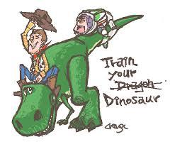 toy story train dinosaur chingc deviantart