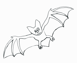 bat line drawing clipart best for coloring pages draw a bat