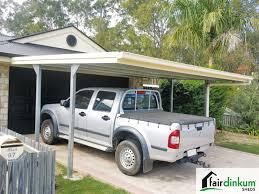 Car Port Roof Flat Roof Carport Customise Size U0026 Colours Fair Dinkum Sheds