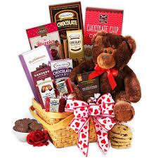 chocolate basket teddy chocolates gift basket by gourmetgiftbaskets