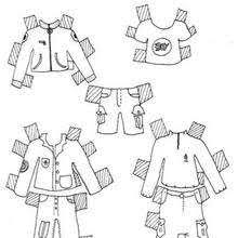 clothes boy model coloring pages hellokids