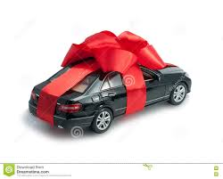 new car gift bow black car for a gift with a bow stock photo image 76734088
