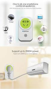 vstarcam wf831 smart wifi power socket remote control eu plug white