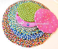 Pebble Rug Felt Ball Rug Handmade In Nepal 100 Pure New Zealand Wool Rugs