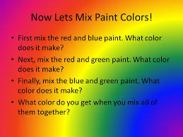 coleen hill k 2 students what color do you think light is ppt