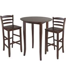 Bar High Top Table Three Piece High Top Dining Table And Chairs In Bar Table Sets