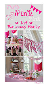 1st birthday pink birthday party