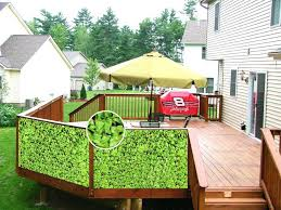 Backyard Screening Ideas Deck Screening Ideas Garden Design With Great Tips For Deck