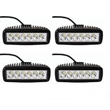 6 inch light bar ttx lighting 18w 6 inch led work light bar 60 degree flood beam