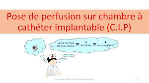 chambre à cathéter implantable pose de perfusion sur chambre à cathéter implantable c i p ppt