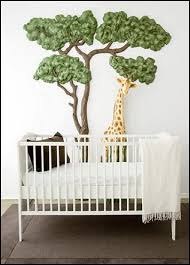 Jungle Nursery Wall Decor Giraffe Bedroom Decor Baby Jungle Theme Wall Decor Baby Jungle
