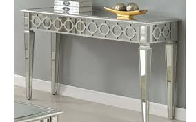 Silver Console Table Mirrored Console Table