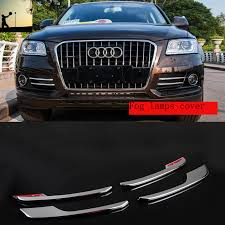 audi q5 cover car styling abs chrome front rear fog ls cover trim for audi q5