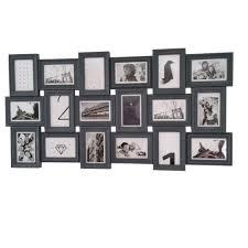 cadre photo pêle mêle mural capacità 18 photos coloris gris