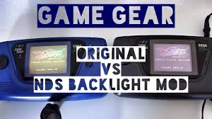 Game Gear Backlight Mod | game gear comparaison rapide tube vs nds backlight mod youtube
