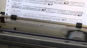 dot matrix printer font sample printout youtube